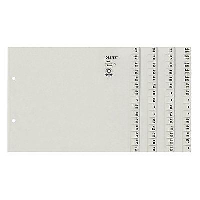 Leitz Registerserie 13040085 DIN A4 A-Z für 4Ordner Tauenpapier grau