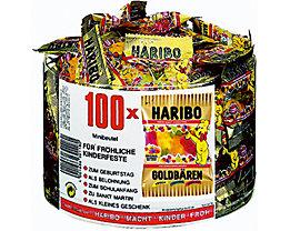 HARIBO Fruchtgummi Goldbären 745653 Minibeutel 100 St./Pack.