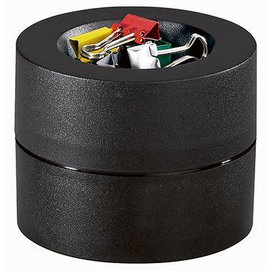 MAUL Klammerspender 3012490 7,3x6cm rund Kunststoff schwarz +Klammern