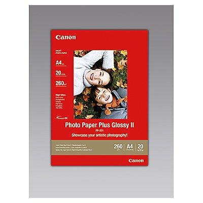 Canon Fotopapier Plus Glossy II PP201/A4 DIN A4 weiß 20 Bl./Pack.