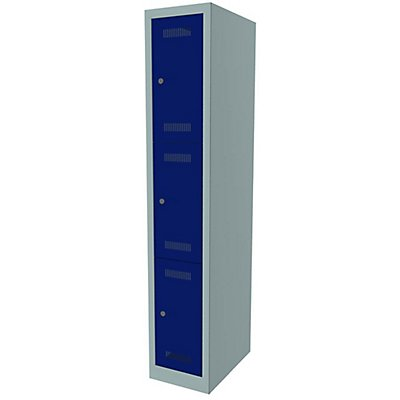 Bisley MonoBloc™ Schließfachschrank - 1 Abteil Breite 300 mm, 3 Fächer