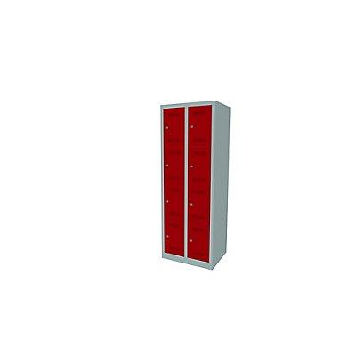 Bisley MonoBloc™ Schließfachschrank - 2 Abteile Breite 300 mm, 8 Fächer