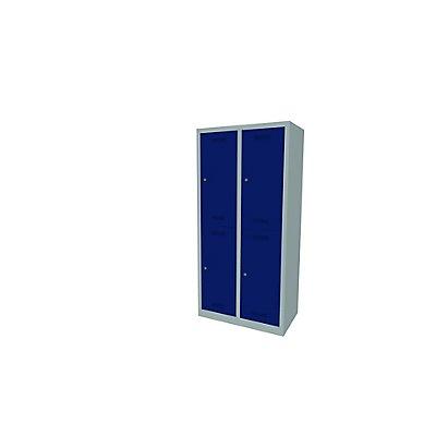 Bisley MonoBloc™ Garderobenschrank - 2 Abteile Breite 400 mm, 4 Fächer