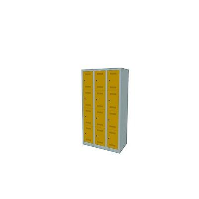 Bisley MonoBloc™ Schließfachschrank - 3 Abteile Breite 300 mm, 12 Fächer