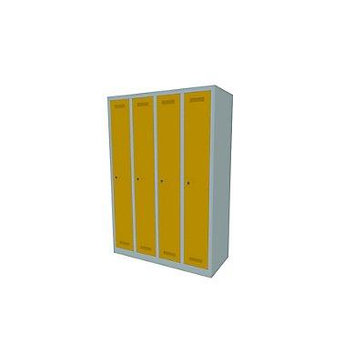 Bisley MonoBloc™ Garderobenschrank - 4 Abteile Breite 300 mm, je 1 Fach