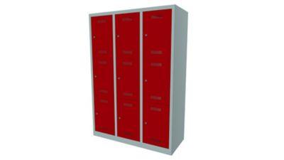 Bisley MonoBloc™ Schließfachschrank - 3 Abteile Breite 400 mm, 9 Fächer