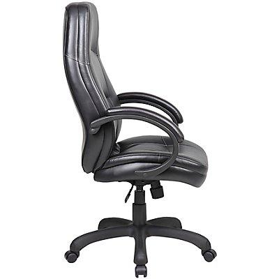 chaise pivotante de bureau monza habillage cuir. Black Bedroom Furniture Sets. Home Design Ideas