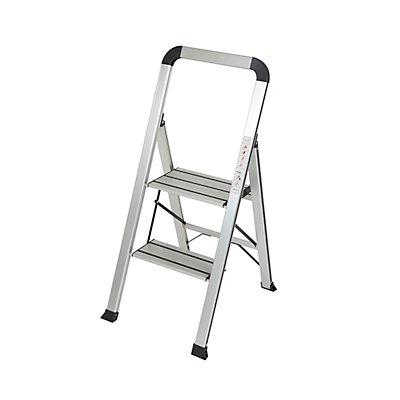 Trittleiter | Aluminium | 3 Stufen | 150 kg Traglast | Höhe 72 cm newpo
