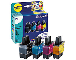 Pelikan Tintenpatrone 355041 P07 Set wie Brother LC900 4 St./Pack.