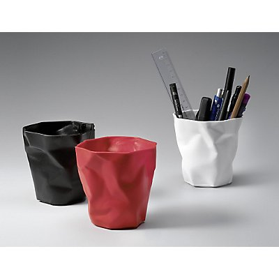 Pot à crayons Pen Pen de Essey - aspect froissé unique - blanc