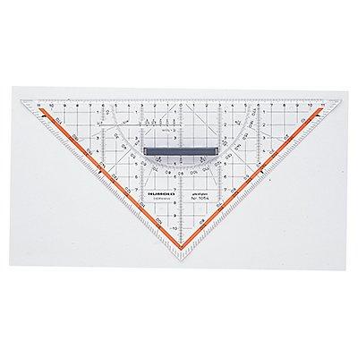 RUMOLD Zeichendreieck 1054 25cm Plexiglas transparent