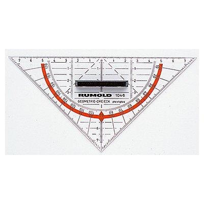 RUMOLD Geometriedreieck 1046 16cm Plexiglas transparent