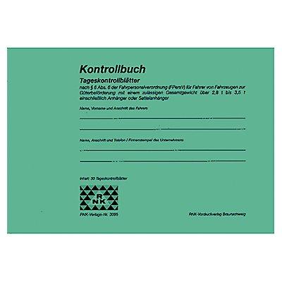 RNK Kontrollbuch 3095 für Fahrpersonal DIN A5 quer 32Blatt