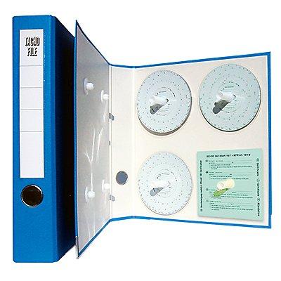 HAUG Ordner 900 400 DIN A4 für Tachoscheiben PVC blau