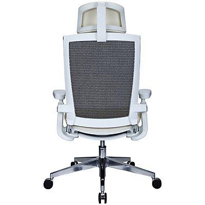 Bürodrehstuhl Traction - mit Netz-Rückenlehne und Kopftstütze