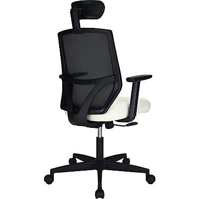Design-Bürostuhl Impact - mit Ledersitz und Kopfstütze