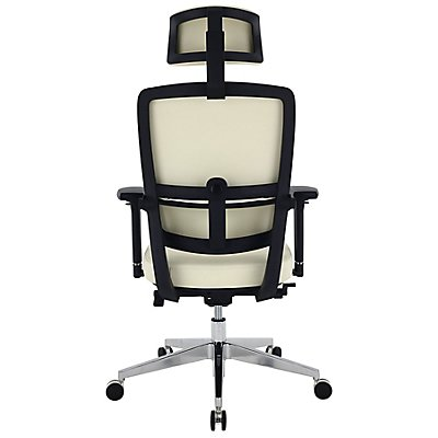 Bürodrehstuhl Parity - mit Lederbezug und Kopfstütze