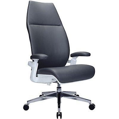 Design-Managerstuhl Kinetix - mit Lederbezug und hoher Rückenlehne