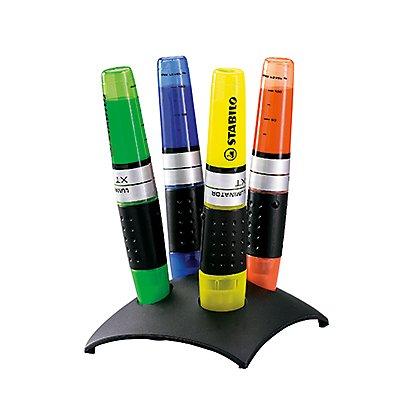 STABILO Textmarker Luminator 7104-2 2-5mm farbig sortiert 4 St./Pack.