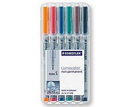 STAEDTLER Folienschreiber Lumocolor 311 WP6 0,4mm sortiert 6 St./Pack.