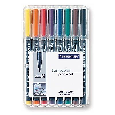 STAEDTLER Folienschreiber Lumocolor 317 WP8 1mm sortiert 8 St./Pack.