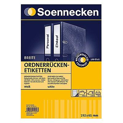 Soennecken Ordneretikett 66309 breit/kurz sk weiß 400 St./Pack.