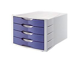 Soennecken Schubladenbox 1554 4geschlossene Schübe lichtgrau