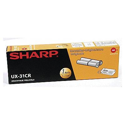 Sharp Thermotransferrolle UX31CR 100Seiten schwarz