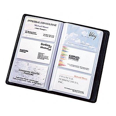 Sigel Visitenkartenmappe Torino VZ202 max. 120Karten Leder schwarz