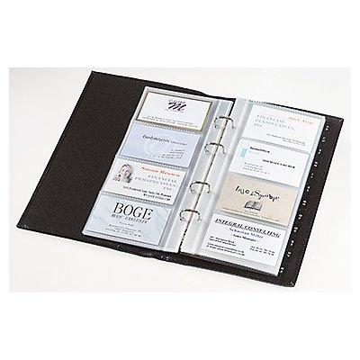 Sigel Visitenkartenmappe Torino VZ204 max. 160Karten Leder schwarz