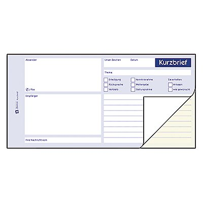 Avery Zweckform Kurzbrief 1741 1/3 DIN A4 2x40Blatt