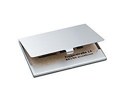 Sigel Visitenkartenetui VZ135 max. 15Karten Aluminium silber