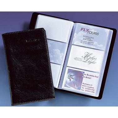 Sigel Visitenkartenmappe VZ171 max. 120Karten 20Hüllen schwarz