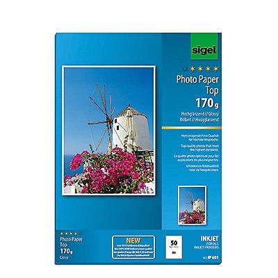 Sigel Fotopapier IP601 DIN A4 170g hochweiß 50 Bl./Pack.