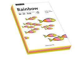 Rainbow Kopierpapier 88043191 A4 80g neon sortiert 200 Bl./Pack.
