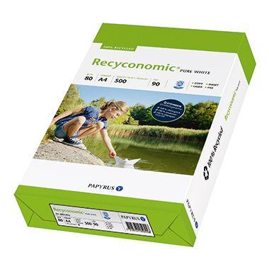Recyconomic Kopierpapier Pure White  DIN  500 Bl./Pack.