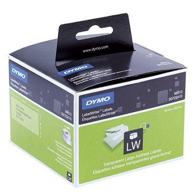 DYMO Adressetikett S0722410 36x89mm transparent 260 St./Rl.