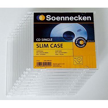 Soennecken CD/DVD Slim Case 4723 Kunststoff klar 10 St./Pack.