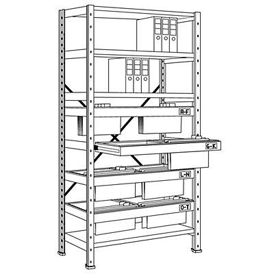 Hängeregistratur-Steckregal - Höhe 2280 mm, 2-bahnige Hängerahmen