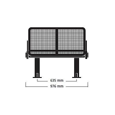 banc d 39 ext rieur robuste banc 2 places sans accoudoir. Black Bedroom Furniture Sets. Home Design Ideas
