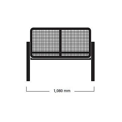 Böco Sitzbank mit Armlehnen - 2-er Bank