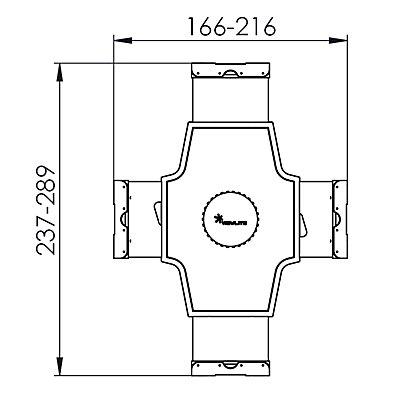 Dataflex Tablet-Halterung UNIVERSEL - silber / weiß, für nahezu alle Tablets