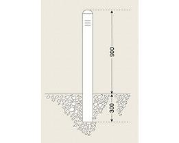 Edelstahlpoller - Rohr-Ø 108 mm, zum Einbetonieren