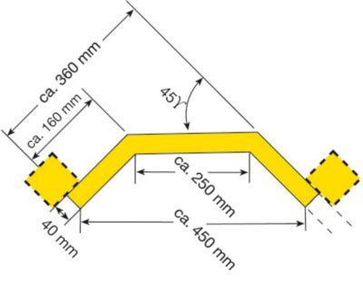 Rammschutz-Planke - Eckplanke, Innenecke