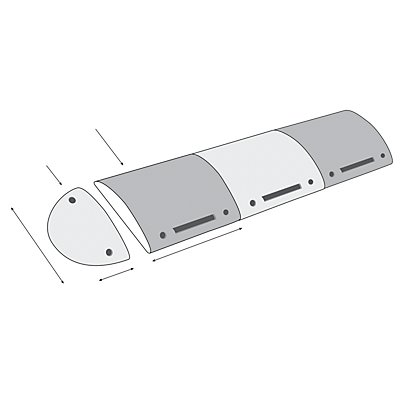 MORAVIA Fahrbahnschwelle - Modell 30-RE