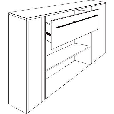 Wellemöbel CLEARLINE Schubkasteneinsatz - für 800 mm breites Regal
