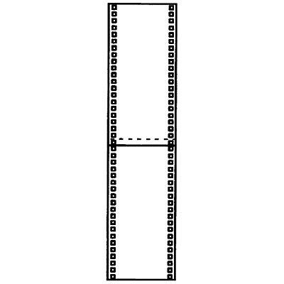 Seitenwand-Verkleidung - Vollblech, Höhe 2500 mm