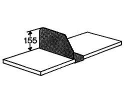 Kerkmann Fachteiler - Höhe 155 mm - für Tiefe 300 mm
