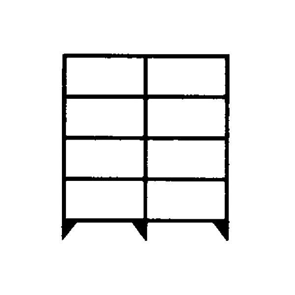 hofe Komplett-Schraubregal  Bauart leicht  verzinkt - Regalhöhe 2000 mm  je 5 Fachböden  1300 mm breit - Breite x Tiefe