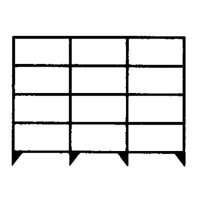 hofe Komplett-Schraubregal, Bauart leicht, verzinkt - Regalhöhe 2000 mm, je 5 Fachböden, 1300 mm breit